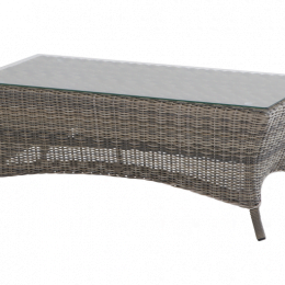Montemar coffee table 110x63x45cm with glass
