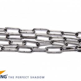 Nesling Ketting Schalm 4mm, lang 2m RVS