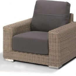 Kingston living chair with 2 cushions grey