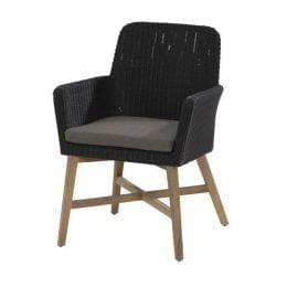 Lisboa dining chair teak legs with cushion