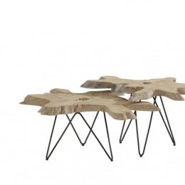 Sumatra coffee table (set van 2)