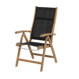 Exotan Caldo verstelbare stoel - Zwart