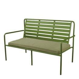 Briant 3-zits aluminium tuinbank - olijf groen