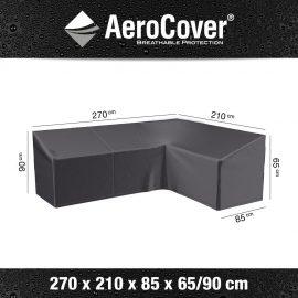 Loungesethoes AeroCover L-Vorm 270x210x85xH65/90cm Rechts
