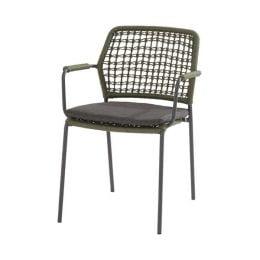 Barista stapelstoel met zitkussen - groen