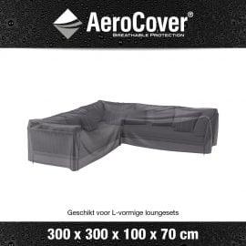 Loungesethoes AeroCover L-Vorm 300x300x100xH70cm