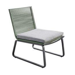 Yoi Kome lounge stoel - Donkergrijs/Groen