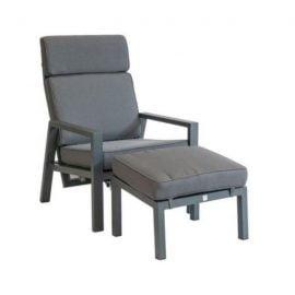 Palazzo verstelbare loungestoel + voetenbank