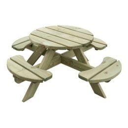 Kinder picknicktafel rond