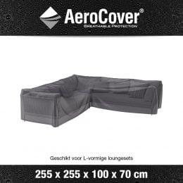 Loungesethoes AeroCover L-Vorm 255x255x100xH70cm